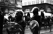 London police during a first of May protest.