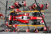 April 15, 2016 - Shanghai, China - <br /> <br /> SEBASTIAN VETTEL of Germany Scuderia Ferrari pulls into the pits during a practice run at the Grand Prix of China in Shanghai.<br /> ©Exclusivepix Media