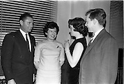 16/01/1963<br /> 01/16/1963<br /> 16 January 1963<br /> Limerickmens Association Annual Dinner at the Clarence Hotel, Dublin. Picture shows (l-r): Mr E. Garvey, Dingle, Co. Kerry; Miss B. Curran, Dingle, Co. Kerry; Miss A Mahon, Wexford and Mr T. Daly, Mallow, Co. Cork.