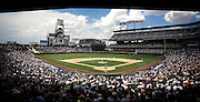 SHOT 7/25/2007 - A view from the stands as the Colorado Rockies play the San Diego Padres during their game Wednesday July 25, 2007 at Coors Field in Denver, Co. The Rockies won the game 10-2. The Rockies put on an impressive winning streak at the end of the season to earn a spot in the postseason..(Photo by Marc Piscotty / © 2007)