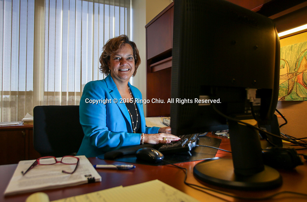 Margaret Gillespie, shareholder at law firm Littler Mendelson, in her office in Century City. (Photo by Ringo Chiu/PHOTOFORMULA.com)<br /> Usage Notes: This content is intended for editorial use only. For other uses, additional clearances may be required.
