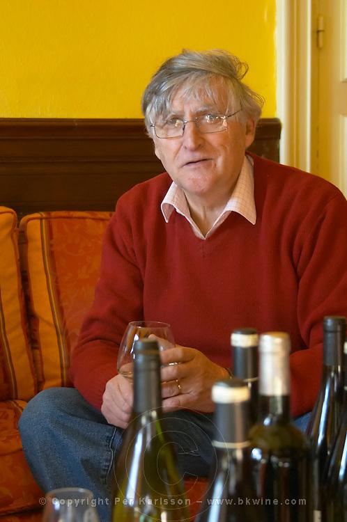 Bernard Jany Chateau la Condamine Bertrand. Pezenas region. Languedoc. Owner winemaker. France. Europe. Bottle.