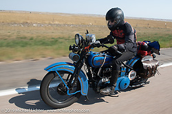 Motorcycle Cannonball coast to coast vintage run. Stage 9 (294 miles) from Pierre to Sturgis, SD. Sunday September 16, 2018. Photography ©2018 Michael Lichter.