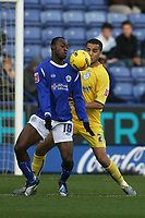 Photo: Pete Lorence.<br />Leicester City v Sheffield Wednesday. Coca Cola Championship. 02/12/2006.<br />Elvis Hammond and Madjid Bougherra battle for the ball.