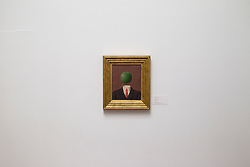 © Licensed to London News Pictures. 14/06/2013. London, UK. 'L'Idee' (1966, est. GB£1,800,000-2,500,000) by French surrealist Rene Magritte is seen at the press view for a Sotheby's auction in London today (14/06/2013). The Impressionist and Modern Art Evening Sale takes place on the 19th of June 2013 at Sotheby's New Bond Street premises.  Photo credit: Matt Cetti-Roberts/LNP