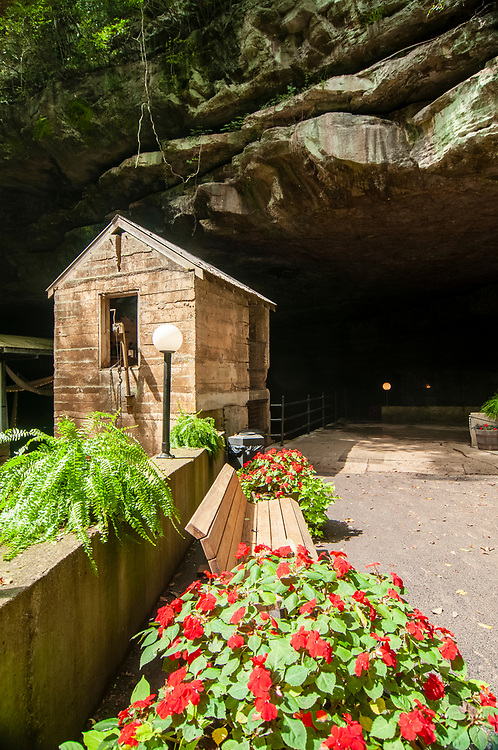 Entrance to the Lost River Cave in Bowling Green, Kentucky on Thursday, August 17, 2017. Copyright 2017 Jason Barnette