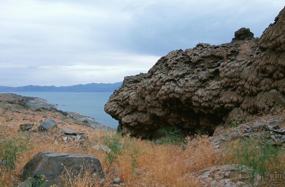"""Tufa at Pyramid Lake, Nevada"" - This tufa formation was photographed on the east shore of Pyramid Lake, Nevada. <br /> Photographed: June 2006"
