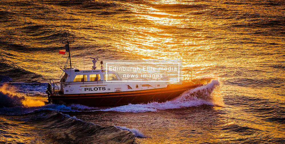"The Pilot Cutter ""Humber Venus"" in the Humber estuary in evening light.<br /> <br /> (c) Andrew Wilson | Edinburgh Elite media"