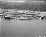 "Ackroyd 18335-12 ""FMC. aerials of yard 1000'. May 29, 1973."" (Gunderson, vicinity of new crane."