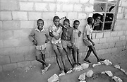 School boys outside of classroom, 6,Cherhou School