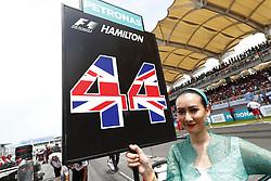 October 1, 2017 - Sepang, Malaysia - Motorsports: FIA Formula One World Championship 2017, Grand Prix of Malaysia, ..Grid Girl  (Credit Image: © Hoch Zwei via ZUMA Wire)