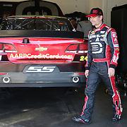 Racecar driver Jeff Gordon is seen during the  56th Annual NASCAR Daytona 500 practice session at Daytona International Speedway on Wednesday, February 19, 2014 in Daytona Beach, Florida.  (AP Photo/Alex Menendez)