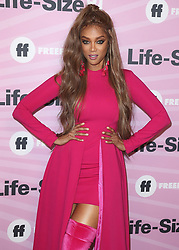 """Allison Holker and Stephen 'tWitch' Boss at the """"Life Size 2"""" World Premiere on November 27, 2018 at the Hollywood Roosevelt Hotel in Hollywood, California. (Photo by Scott Kirkland/PictureGroup). 27 Nov 2018 Pictured: Tyra Banks. Photo credit: Scott Kirkland/PictureGroup / MEGA TheMegaAgency.com +1 888 505 6342"""