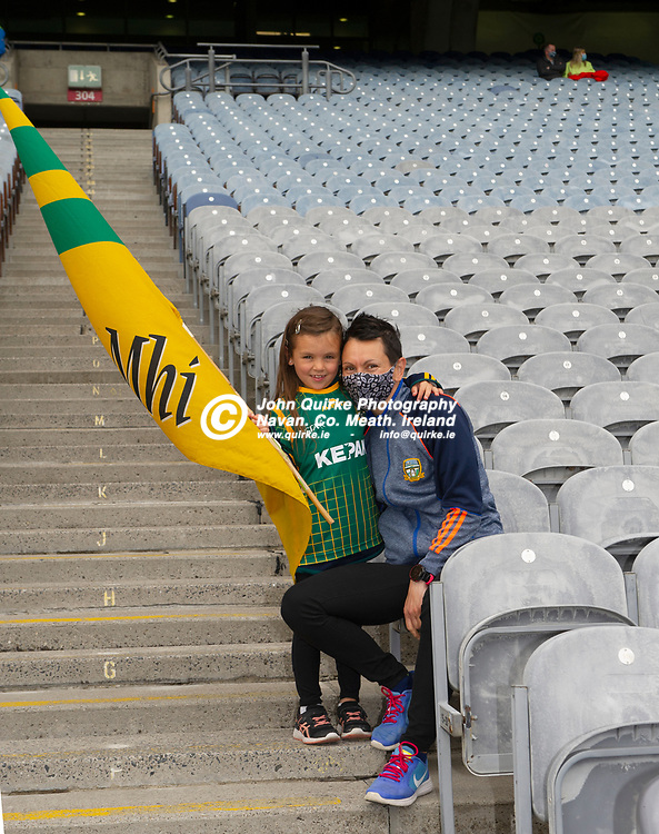 26-06-21. Meath v Kerry - Lidl Ladies National Football League Division 2 Final at Croke Park.<br /> Roisin Wade and her mum Elena from Bettystown.<br /> Photo: John Quirke / www.quirke.ie<br /> ©John Quirke Photography, 16 Proudstown Road, Navan. Co. Meath. (info@quirke.ie / 046-9028461 / 087-2579454).
