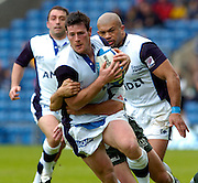 2005 European Challenge Cup Final Sale Sharks v Pau, ENGLAND, 21.05.2005, Sale's Andy Titterell attacking down the wing<br /> Photo  Peter Spurrier. <br /> email images@intersport-images