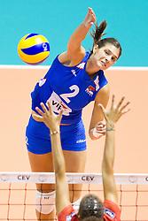 24.09.2011, Hala Pionir, Belgrad, SRB, Europameisterschaft Volleyball Frauen, Vorrunde Pool A, Serbien (SRB) vs. Frankreich (FRA), im Bild Jovana Brakocevic (#2 SRB) // during the 2011 CEV European Championship, First round at Hala Pionir, Belgrade, SRB, 2011-09-24. EXPA Pictures © 2011, PhotoCredit: EXPA/ nph/  Kurth       ****** out of GER / CRO  / BEL ******