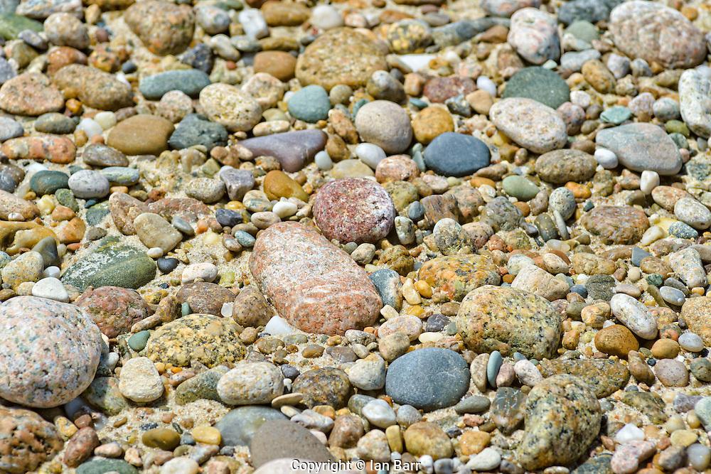 Cape cod seashore pebbles, Massachusetts, USA.