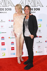 AU_1417480 - Sydney, AUSTRALIA  -  Nicole Kidman and Keith Urban Join Celebrities at the 32nd Annual ARIA Awards 2018 - Red Carpet Arrivals<br /> <br /> Pictured: Nicole Kidman, Keith Urban<br /> <br /> BACKGRID Australia 28 NOVEMBER 2018 <br /> <br /> BYLINE MUST READ: Brandon Voight / BACKGRID<br /> <br /> Phone: + 61 2 8719 0598<br /> Email:  photos@backgrid.com.au
