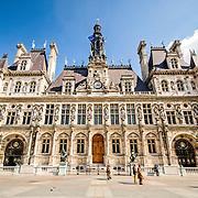 Exterior of the Hotel de Ville Paris (City Hall).
