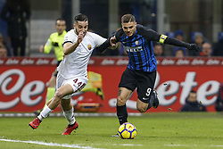 January 21, 2018 - Rome, Italy - Olympic Stadium, MILAN, Italy - 21/01/2018..(L-R) Kostas Manolas of Roma and Mauro Icardi of Inter Milan fight for the ball during their Italian Serie A soccer match...Credit: Giampiero Sposito/Pacific Press (Credit Image: © Giampiero Sposito/Pacific Press via ZUMA Wire)