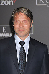 December 10, 2016 - Los Angeles, California, United States - December 10th 2016 - Los Angeles California USA - Actor MADS MIKKELSEN   at the World Premiere for ''Rogue One Star Wars'' held at the Pantages Theater, Hollywood, Los Angeles  CA (Credit Image: © Paul Fenton via ZUMA Wire)