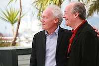 Directors Jean-Pierre Dardenne and Luc Dardenne at the photo call for the film Two Days, One Night (Deux Jours, Une Nuit) at the 67th Cannes Film Festival, Tuesday 20th May 2014, Cannes, France.