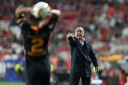 February 21, 2019 - Lisbon, Portugal - Coach Fatih Terim of Galatasaray AS in action during the Europa League 2018/2019 footballl match between SL Benfica vs Galatasaray AS. (Credit Image: © David Martins/SOPA Images via ZUMA Wire)