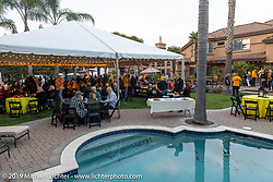 Gathering at the home of Kim and Jon Borneman after the Arlen Ness Memorial - Celebration of Life. Pleasanton, CA, USA. Saturday, April 27, 2019. Photography ©2019 Michael Lichter.