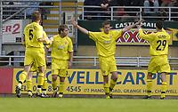 Fotball<br /> Foto: SBI/Digitalsport<br /> NORWAY ONLY<br /> <br /> Leyton Orient v Bury<br /> Coca-Cola League Two<br /> 09/10/2004<br /> <br /> Chris Porter celebrates his goal for Bury