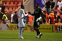 Football - 2021 / 2022 EFL Carabao Cup - Round One - Leyton Orient vs Queens Park Rangers - The Breyer Group Stadium<br /> <br /> Albert Adomah of Queens Park Rangers celebrates after scoring the winning penalty in the shoot out with Jordan Archer.<br /> <br /> COLORSPORT/Ashley Western