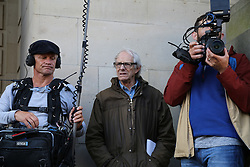 © Licensed to London News Pictures. 19/08/2016. Sheffield, UK. Film director Ken Loach with a film crew at a Jeremy Corbyn campaign rally in Sheffield, South Yorkshire, during the 2016 Labour leadership election. Photo credit : Ian Hinchliffe/LNP