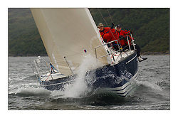 Yachting- The first days inshore racing  of the Bell Lawrie Scottish series 2003 at Tarbert Loch Fyne.  Light shifty winds dominated the racing...Donald Sharp's Tundra an X332 in Class Three...Pics Marc Turner / PFM