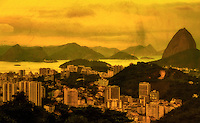 Fine art photography of Rio de Janeiro, Guanabara Bay and the Sugar Loaf.