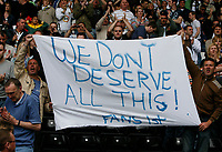 Photo: Steve Bond.<br />Derby County v Leeds United. Coca Cola Championship. 06/05/2007. A message from Leeds United fans