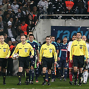 Referee's Marcin Borski (3ndL) during their UEFA Europa League Group Stage Group E soccer match Besiktas between Stoke City at Inonu stadium in Istanbul Turkey on Wednesday December 14, 2011. Photo by TURKPIX