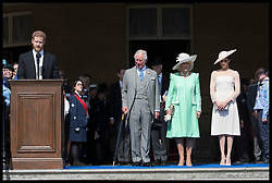 May 22, 2018 - London, London, United Kingdom - Image licensed to i-Images Picture Agency. 22/05/2018. London, United Kingdom. The Prince of Wales, Duchess of Cornwall and the Duke and Duchess of Sussex at the Prince of Wales' 70th Birthday Patronage Celebration in the gardens of  Buckingham Palace in London. (Credit Image: © Stephen Lock/i-Images via ZUMA Press)