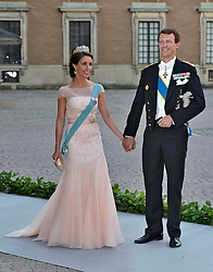 Princess Marie of Denmark and Prince Joachim of Denmark attend the wedding of Princess Madeleine of Sweden and Christopher O'Neill hosted by King Carl Gustaf XIV and Queen Silvia at The Royal Palace in Stockholm, Sweden, June 8, 2013 . Photo by Schneider-Press / i-Images. .UK & USA ONLY