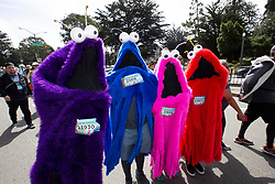 The Yep Yep Monsters at the 107th running of the Bay to Breakers, Sunday, May 20, 2018, in San Francisco. (Photo by D. Ross Cameron)