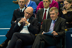 Pictured: John Swinney and Willie Rennie<br /> <br /> The People Politics Hustings,  organised by the Church of Scotland, allowed voters to question SNP deputy John Swinney, Scottish Labour leader Kezia Dugdale, Scottish Liberal Democrat leader Willie Rennie, Scottish Greens co-convener Patrick Harvie and former Scottish Conservatives leader Annabel Goldie ahead of the Scottish Elections. Before the politicians had a chance to speak they had a chance to listen to five speakers with different viewpoints on how Scotland has supported them in the past and how it should support them in the future..<br /> Ger Harley | EEm 4 April 2016
