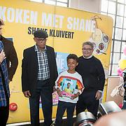 NLD/Muiden/20180325 - Boekpresentatie koken met Shane Kluivert, Nino Wilkes, opa Kluivert Kenneth Ramon Kluivert,  Shane Kluivert en opa Lima