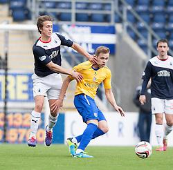 Falkirk's Will Vaulks and Cowdenbeath's Greg Stewart.<br /> Falkirk 5 v 0 Cowdenbeath, Scottish Championship game played today at The Falkirk Stadium.<br /> © Michael Schofield.