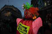 Extinction Rebellion take over party in Trafalgar square on 10th October 2019 in London, United Kingdom. Extinction Rebellion is a climate change group started in 2018 and has gained a huge following of people committed to peaceful protests. These protests are highlighting that the government is not doing enough to avoid catastrophic climate change and to demand the government take radical action to save the planet.
