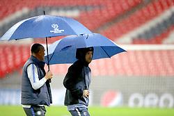 Inter Milan's Radja Nainggolan during a walk around at Wembley Stadium, London.