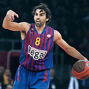 FC Barcelona Regal's Victor SADA during their Euroleague group D matchday 5 Galatasaray between  FC Barcelona Regal at the Abdi Ipekci Arena in Istanbul at Turkey on Thursday, November 17 2011. Photo by TURKPIX
