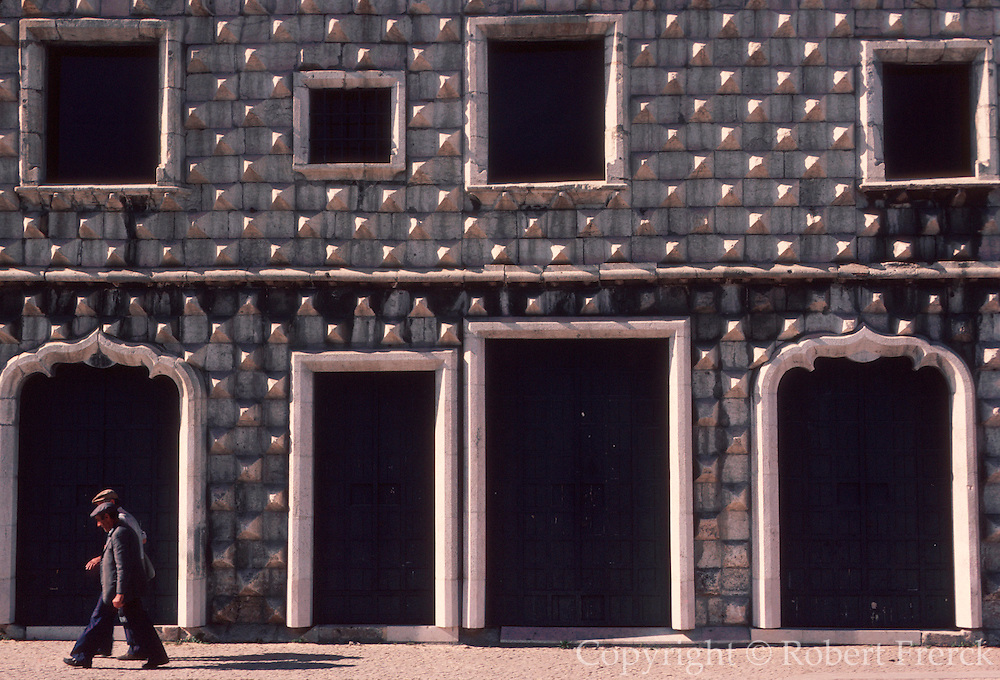 PORTUGAL, LISBON Casa dos Bicos, 16th century Palace with an exterior covered in pointed stones