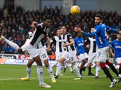 St Mirren's Matthew Willock heads clear during the Ladbrokes Scottish Premier League match at St Mirren Park, St Mirren.