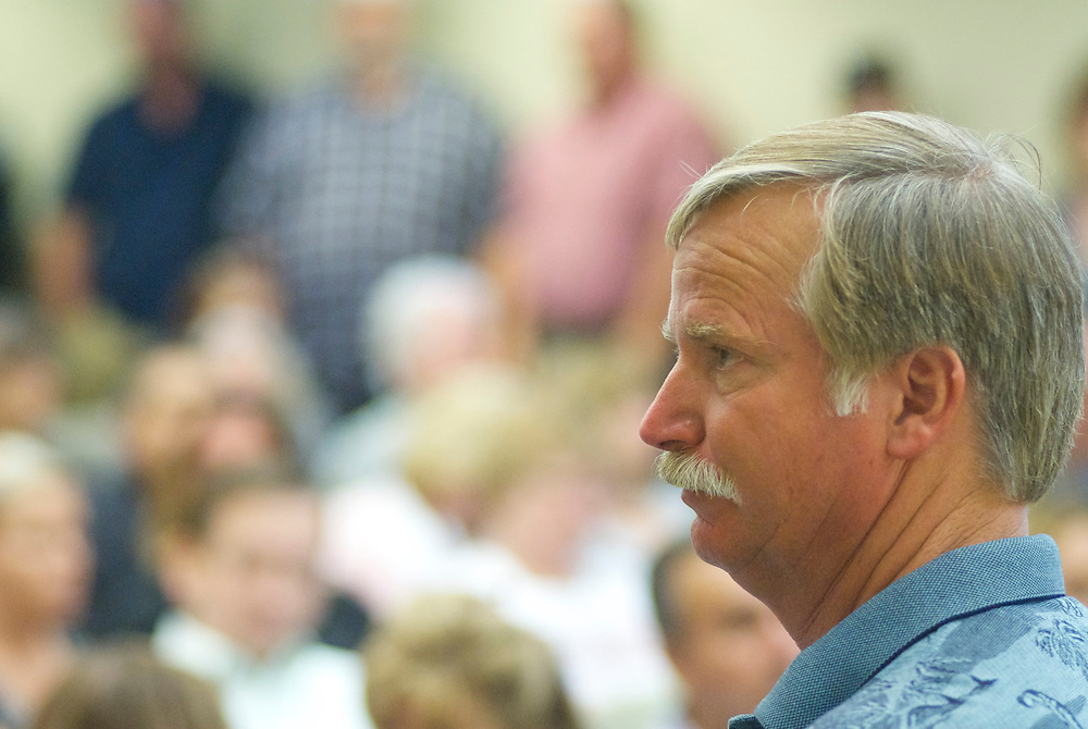 Ron Thomas, the father of Kelly Thomas, at a Fullerton City Council Meeting where public comments dominated the session.  Discussed was the death of Kelly Thomas, a mentally ill homeless man that died after an altercation with FUllerton Police. During the months since, two FPD officers have been charged with 2nd dgree murder and involuntary manslaughter and ar ecall campaign has begun agains three seated council members.