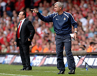 Photo: Daniel Hambury.<br />Liverpool v West Ham United. The FA Cup Final. 13/05/2006.<br />West Ham's manager Alan Pardew.