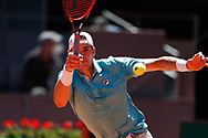 John Isner of United States in action during his Men's Singles match, Quarter of Finals, against Dominic Thiem of Austria on the Mutua Madrid Open 2021, Masters 1000 tennis tournament on May 7, 2021 at La Caja Magica in Madrid, Spain - Photo Oscar J Barroso / Spain ProSportsImages / DPPI / ProSportsImages / DPPI