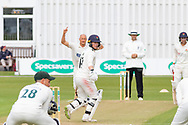 WICKET Alex Davies is caught at slip off Dieter Klein during the Specsavers County Champ Div 2 match between Leicestershire County Cricket Club and Lancashire County Cricket Club at the Fischer County Ground, Grace Road, Leicester, United Kingdom on 25 September 2019.